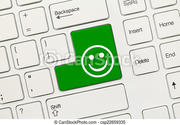 bonne humeur, -, key), clavier, conceptuel, blanc, (green - csp22659335