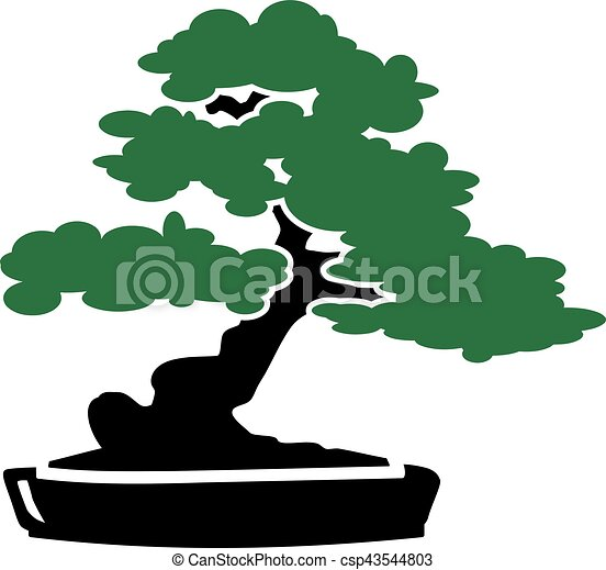 Bonsai Tree Icon Canstock