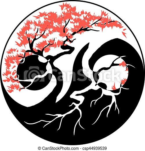 Bonsai Yin Yang - csp44939539