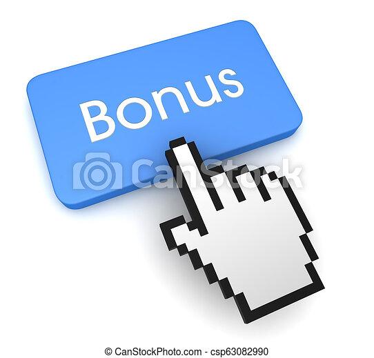 bonus button concept 3d illustration - csp63082990
