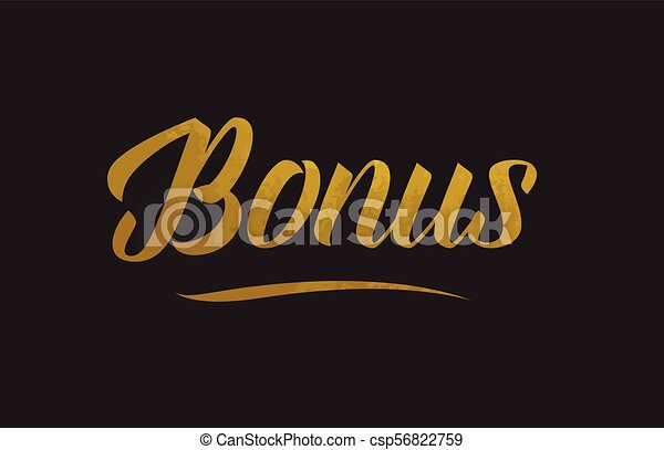 Bonus gold word text illustration typography - csp56822759