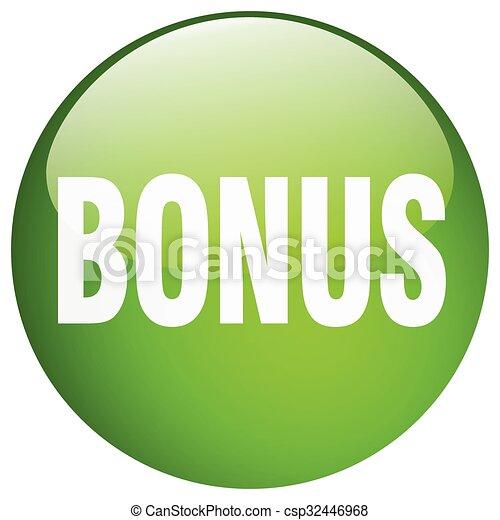 bonus green round gel isolated push button - csp32446968