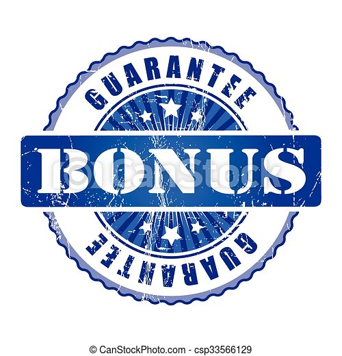 Bonus  Guarantee Stamp.  - csp33566129