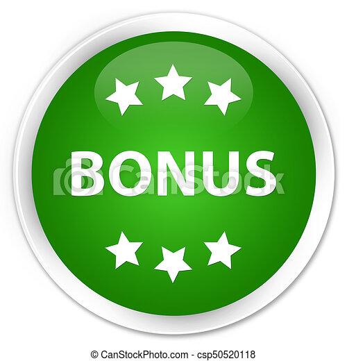 Bonus icon premium green round button - csp50520118