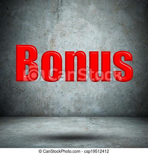 bonus on concrete wall - csp19512412