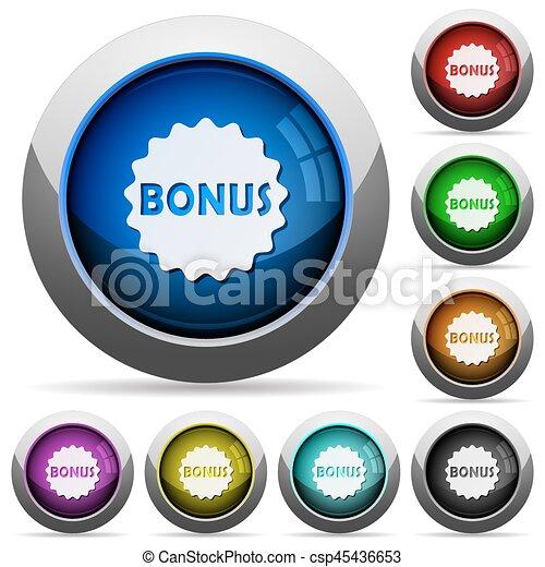 Bonus sticker round glossy buttons - csp45436653