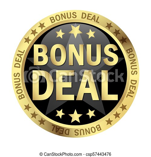 bonus, text, knapp, furu - csp57443476