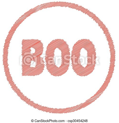 Boo Rubber Stamp - csp30454248