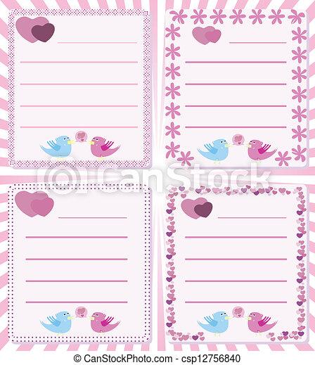 boodschap, liefde, tweet, vogels - csp12756840