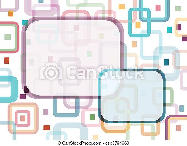 boodschap, rechthoeken, etiket - csp5794660