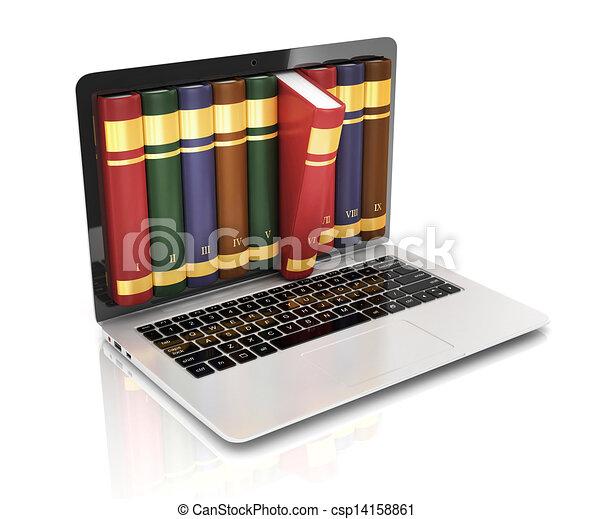 book 3d concept - book instead of d - csp14158861