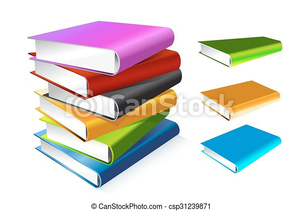 Book 3d vector illustration isolated on white - csp31239871