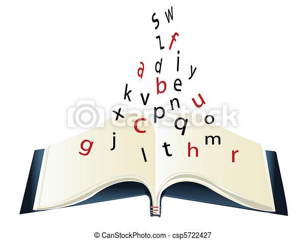 book - alphabet - csp5722427