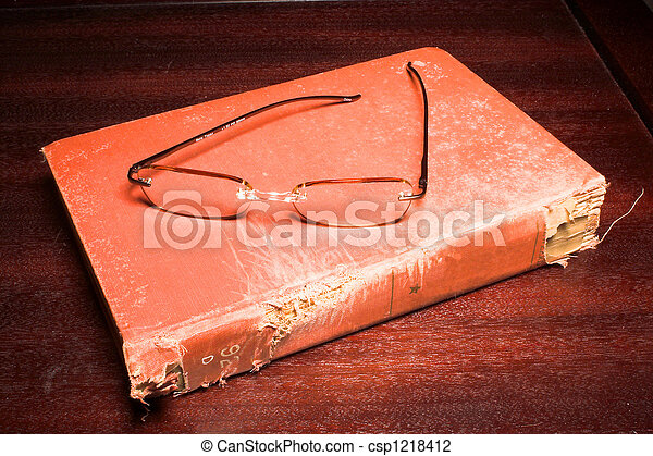Book and eading Glasses - csp1218412
