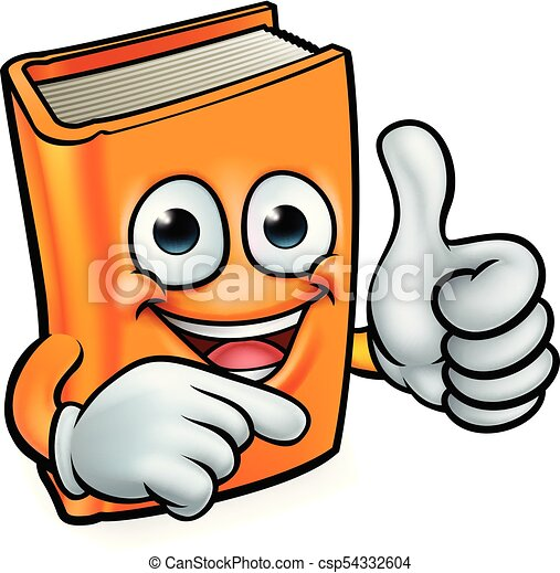 Book Cartoon Education Mascot A Book Cartoon Character Education Mascot Giving A Thumbs Up And Pointing