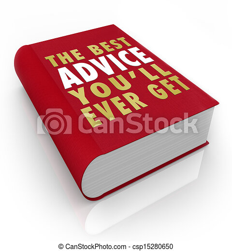 Book Cover Best Advice You'll Ever Get - csp15280650