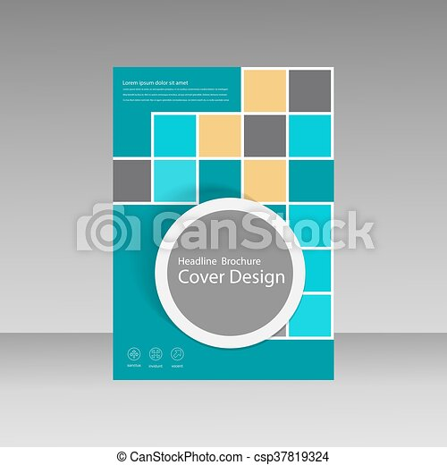 Book Cover Layout Design Abstract Flyer Templates With Square