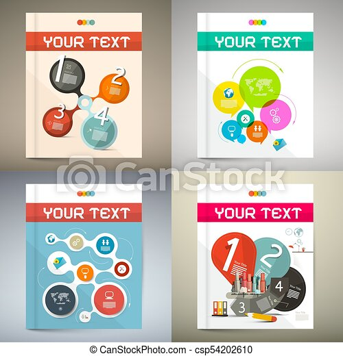 Book Covers Set - Technology Magazine Cover Design. - csp54202610