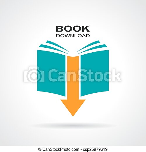 Book download icon - csp25979619