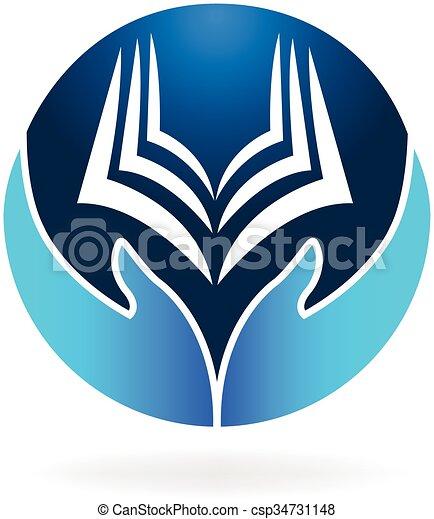 Book  education logo vector - csp34731148