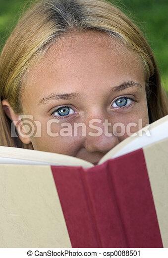 Book Girl - csp0088501