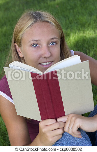 Book Girl - csp0088502