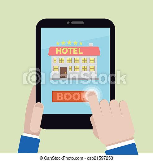 book hotel room - csp21597253