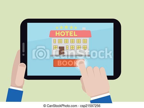 book hotel room - csp21597256