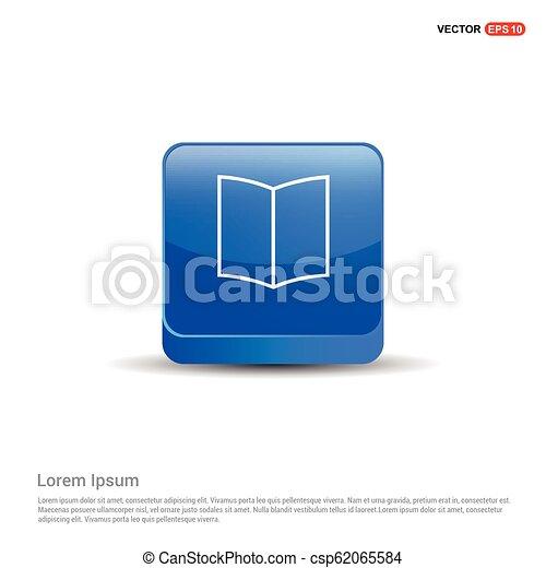 book icon - 3d Blue Button - csp62065584