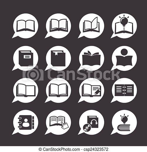 book icon - csp24323572