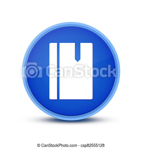 Book  icon isolated on blue round button abstract - csp82555128
