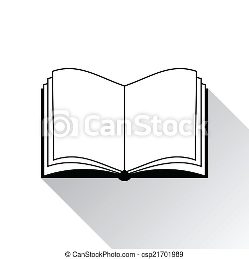 Book icon on white background - csp21701989
