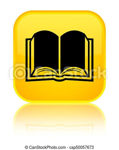 Book icon special yellow square button - csp50057673