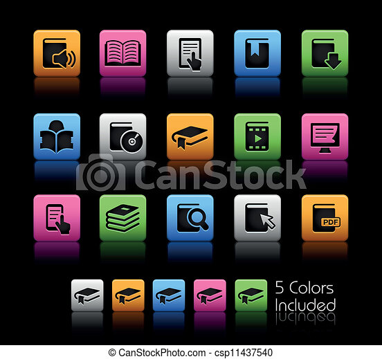 Book Icons // Color Box - csp11437540