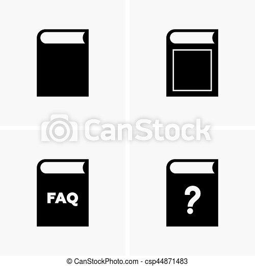 Book icons - csp44871483