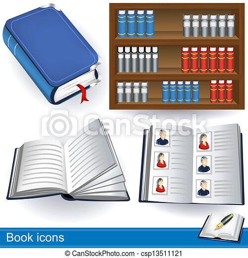 book icons - csp13511121