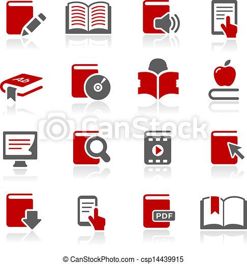 Book Icons -- Redico Series  - csp14439915