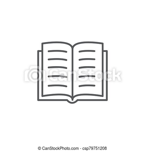 Book line icon on white background - csp79751208