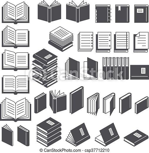 Book line icons set. Vector Illustration. - csp37712210