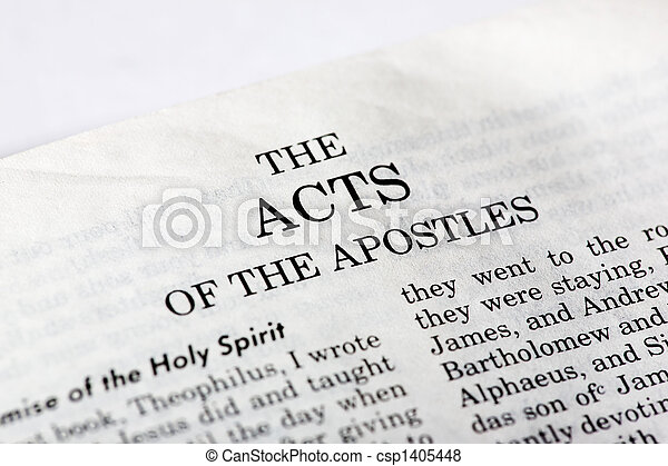Book of Acts - csp1405448