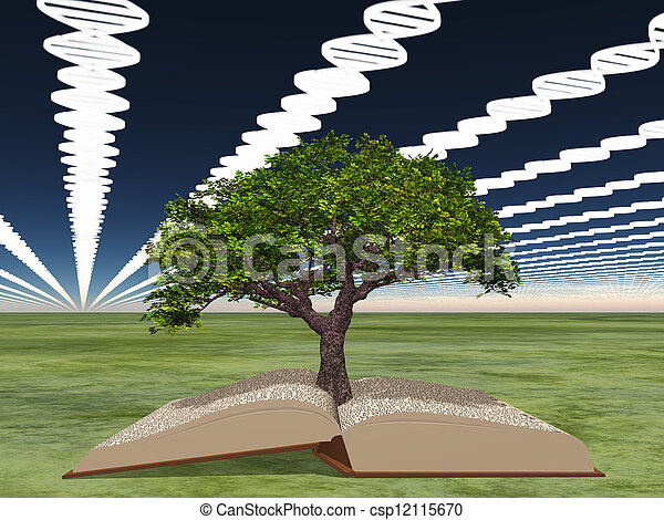Book of life with tree of life - csp12115670