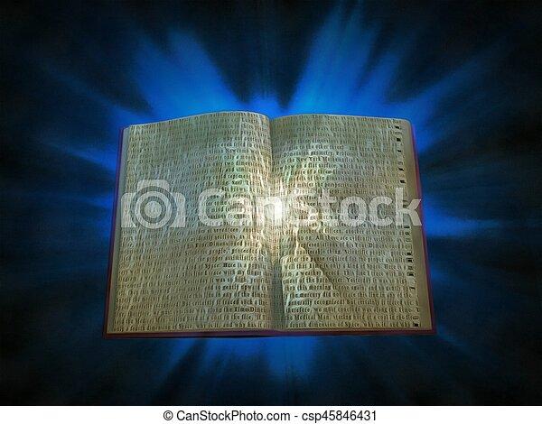 Book of light - csp45846431