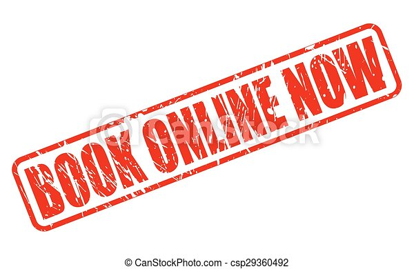 Book online now red stamp text - csp29360492