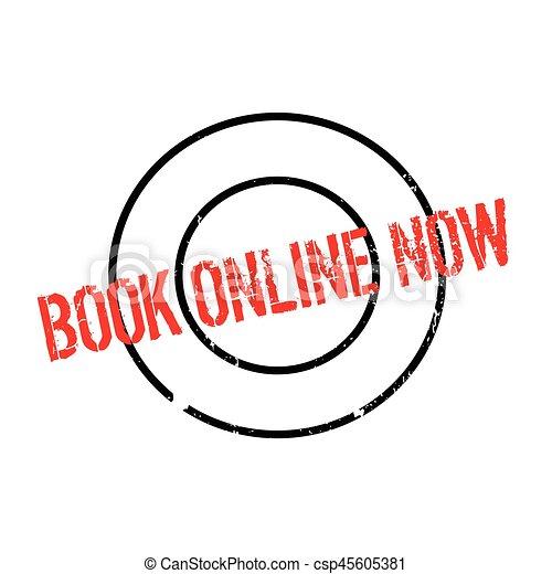 Book Online Now rubber stamp - csp45605381