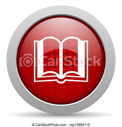 book red circle web glossy icon - csp13884112
