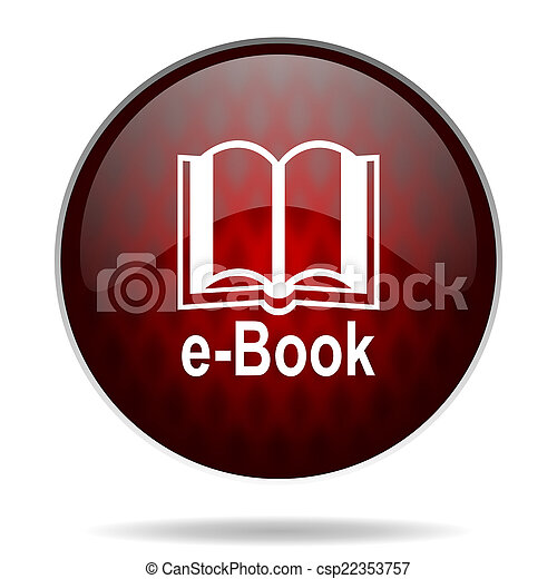 book red glossy web icon on white background - csp22353757