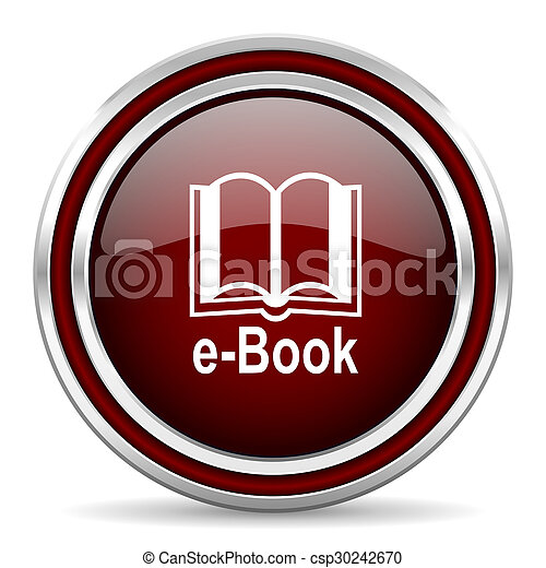 book red glossy web icon - csp30242670