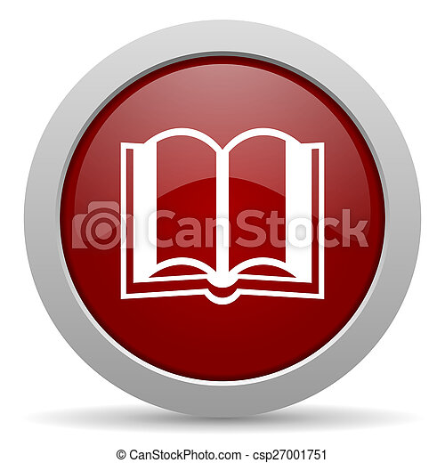 book red glossy web icon - csp27001751