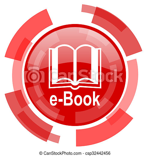 book red glossy web icon - csp32442456