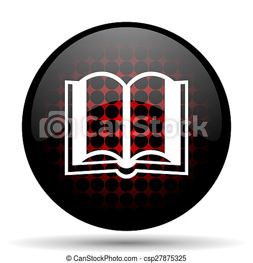 book red glossy web icon - csp27875325